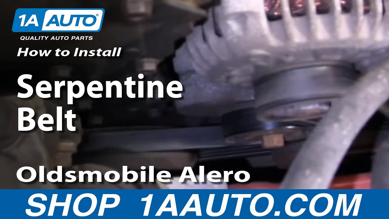 How To Install Replace Serpentine Belt Oldsmobile Alero 9904 24L 1AAuto  YouTube