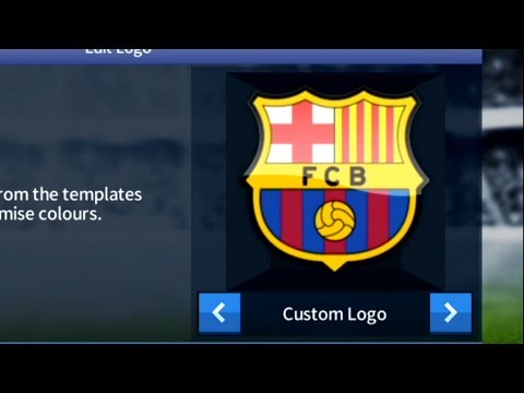how to import fc barcelona logo in dream league soccer 17 youtube