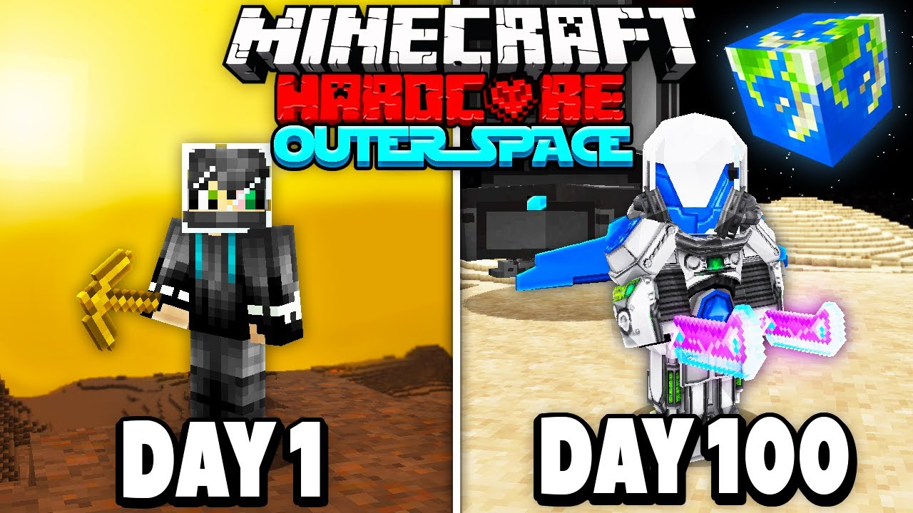 I Survived 100 Days in Outer Space on Hardcore Minecraft Heres What Happened