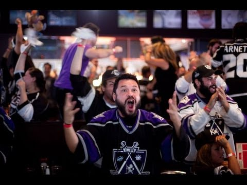 The L.A. Kings Win the Stanley Cup.  Everyone Goes Nuts.