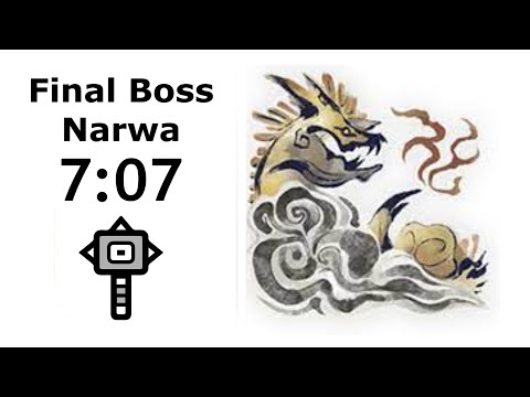 Monster Hunter Rise - Final Boss Solo in 7'07 with Hammer (Thunder Serpent Narwa) |