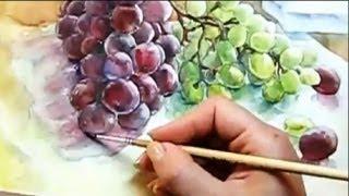 КАК научиться РИСОВАТЬ  Аппетитный ВИНОГРАД(Бесплатный 2-х недельный курс рисования для всех желающих быстро научиться рисовать Курс №1