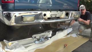 how to replace the rear bumper on a 2004 dodge ram pick up