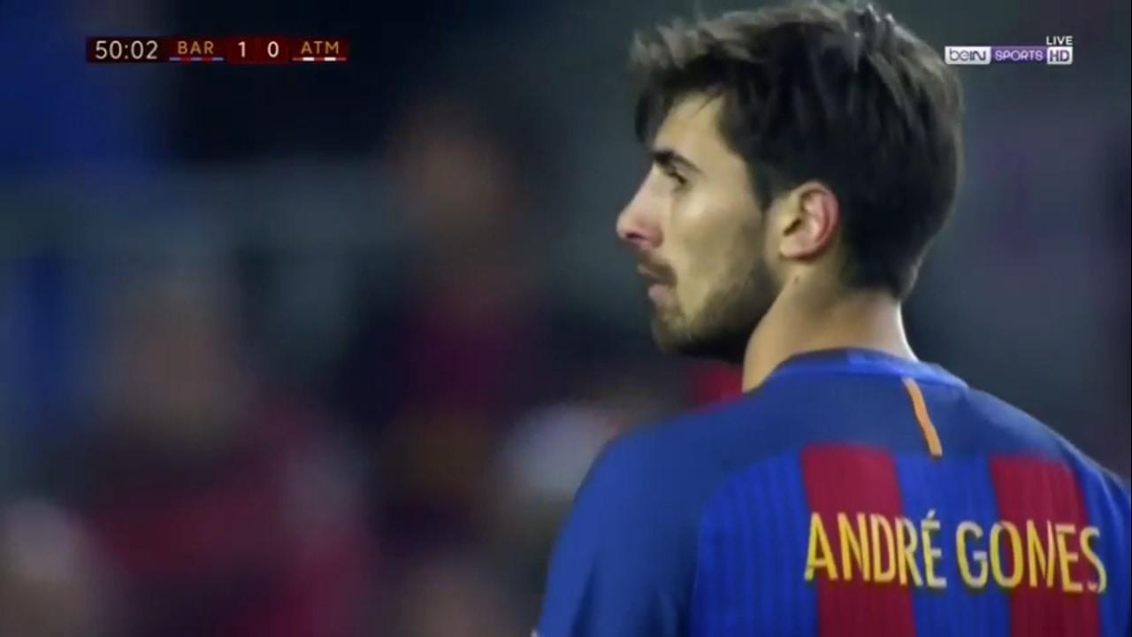 Andre Gomes Vs Atletico Madrid (Home) 16-17 HD (7/2/2017