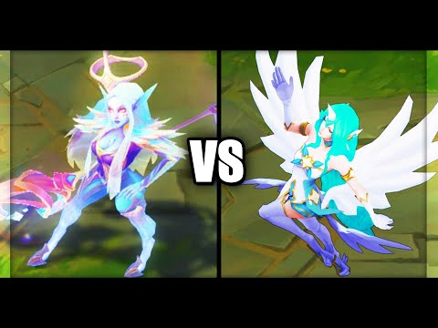 Dawnbringer Soraka vs Star Guardian Soraka Legendary vs Epic Skins Comparison (League of Legends)