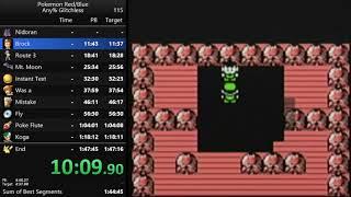 Pokemon Red any% glitchless speedrun in 1:47:02