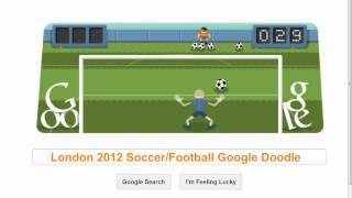 London 2012 Soccer Football (google Doodle)