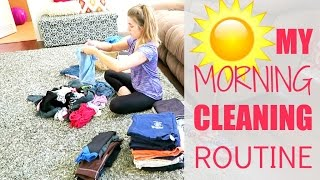 my morning cleaning routine 2016   clean with me vlog style