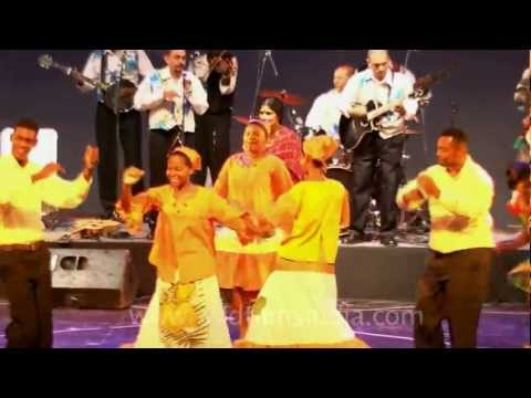 The National cultural group of Seychelles in India!!