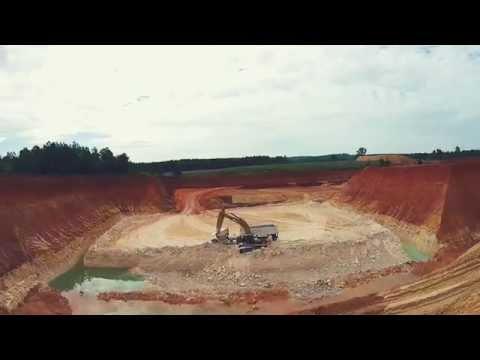 Kaolin Mine - Macon, GA, USA - Flyover Shots