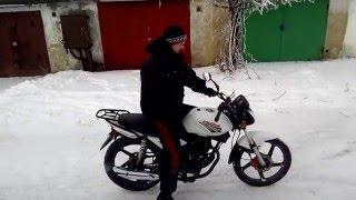 Зимняя мощь мотоцикла Racer RC150