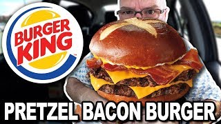 Burger King 🍔👑 PRETZEL BACON KING™ Sandwich