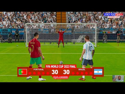 PES 2021 - Portugal vs Argentina Final Penalty Shootout - FIFA World Cup 2022 - Gameplay