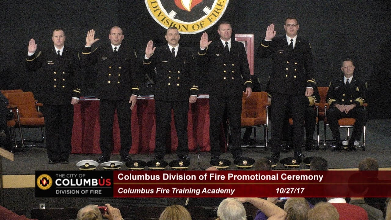 2017 columbus division of fire promotions ceremony youtube
