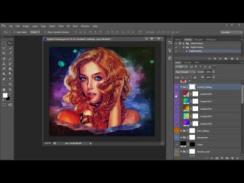 Digital Painting Photoshop Action Tutorial