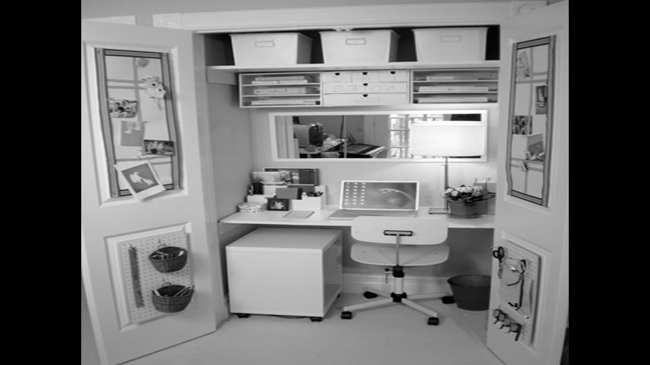 Small Home Office Organization Ideas Part - 43: Dream Home Design - Home Office Organization Ideas - YouTube