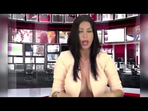 Реальная ведущая новостей на кастинге Албанского ТВ