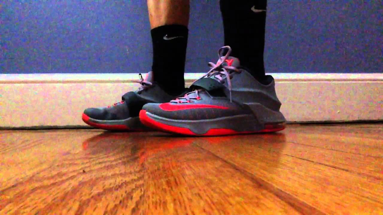 best authentic ddf7b a0ed7 Kd 7 Calm before the Storm On feet review - YouTube