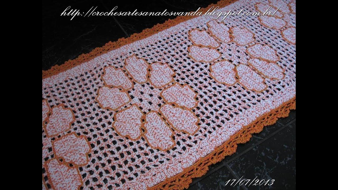 Como contornar desenhos em crochê filê Artesanatos em Doovi #7B412F 1024 768