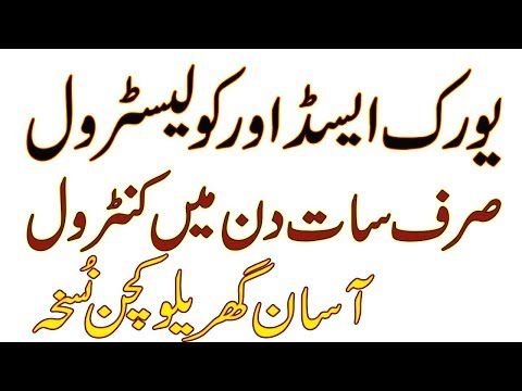 How To Control Uric Acid And Cholesterol In Urdu By Dr Naveed
