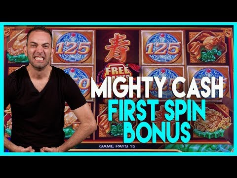 🎰BONUS First Spin @ Mighty CASH (w/ Brians Beautiful Song!)🎶HIGH LIMIT Dancing Drums ✦ BCSlots