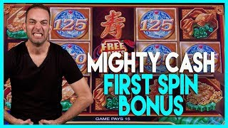 Baixar 🎰BONUS First Spin @ Mighty CASH (w/ Brian's Beautiful Song!)🎶HIGH LIMIT Dancing Drums ✦ BCSlots
