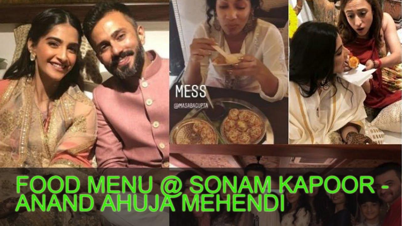 Mehendi Ceremony S List : Food served at the sonam kapoor anand ahuja mehendi ceremony