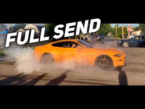 First BURNOUT In My MANUAL 2019 Mustang GT! (+ Update)