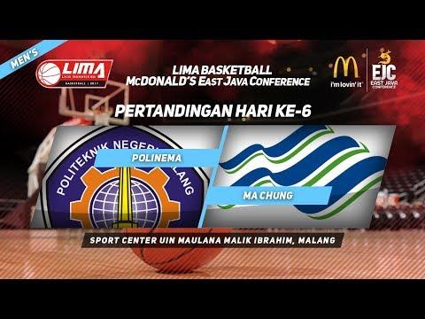 POLINEMA vs MA CHUNG di LIMA Basketball McDonald's East Java Conference 2017 (Men's)