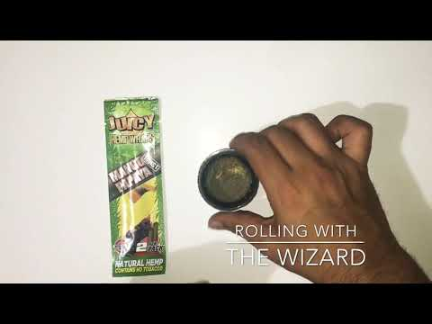 How to roll a blunt using a Juicy Hemp Wrap