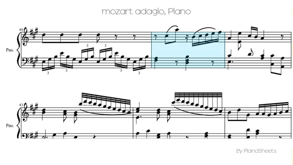 All Music Chords grieg wedding day at troldhaugen sheet music : mozart adagio [Piano Solo] - YouTube