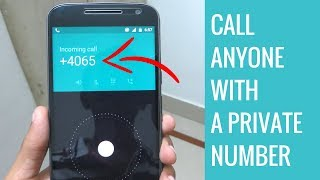 How To Call Anyone With Private Number Or Unknown Number