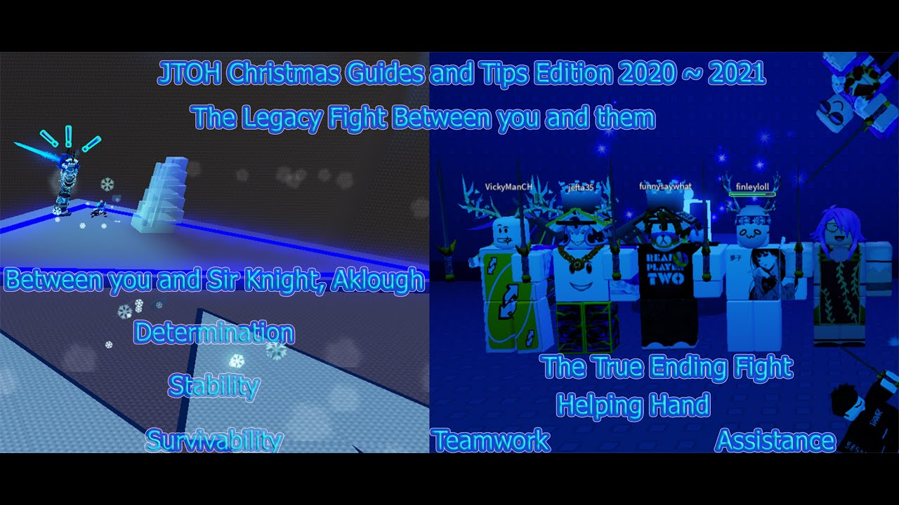 Christmas Assistance 2021 Roblox Jtoh Christmas Edition 2020 2021 Guides And Tips Solo Aklough Secret Ending Commentary Youtube