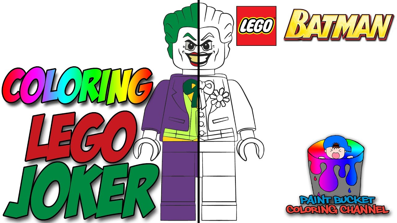 lego joker minifigure lego batman coloring pages for kids youtube