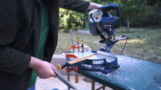 "Tool Abuse, or how to cut 1/2"" aluminium plate with a miter saw"