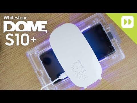 WhiteStone Dome Samsung Galaxy S10 Plus Glass Screen Protector Installation Guide & Review