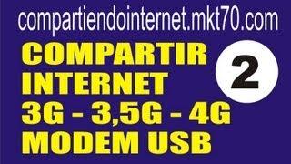 video tutor tutorial como compartir internet movil modem usb 3g 3 5g 4g no router 2 de 3