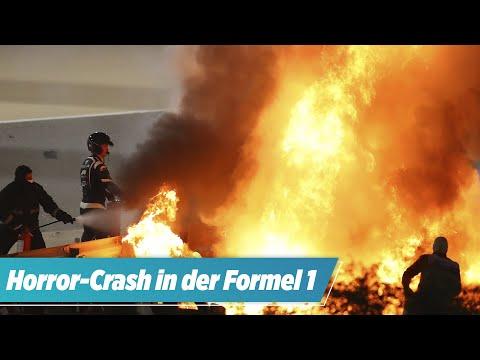 Horror-Crash in der Formel 1! BILD-Reporter erklärt: So konnte Grosjean überleben