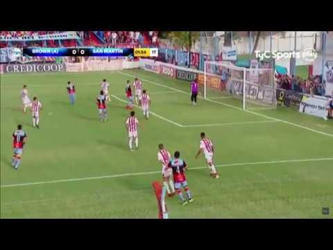 Gol de Brown de Adrogué ante San Martín de Tucumán