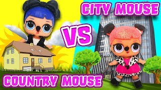 LOL Surprise Dolls Perform Country Mouse City Mouse! Starring Curious QT, Center Stage & Midnight!