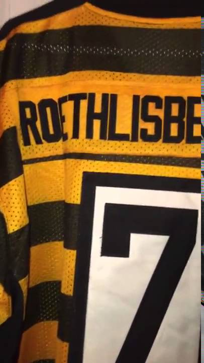 96bae672bc1 Mary Jersey Pittsburgh Steelers #7 Ben Roethlisberger 80TH Anniversary Throwback  Jersey review