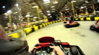 Go Karting at Pole Position Las Vegas helmet cam CRASH
