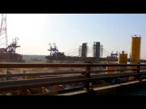 latest video Bharuch narmada river  under contruction cable bridge NH -