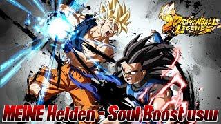 MEINE Helden - Soul Boosts und Level :) | Dragon Ball Legends Deutsch