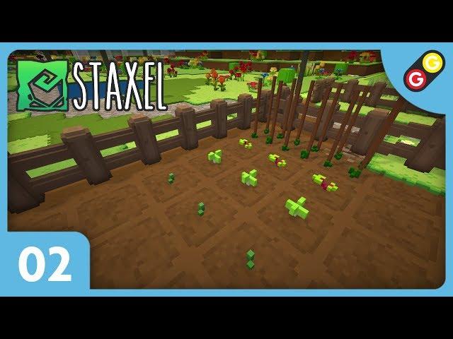 Staxel #02 On plante notre premier champ ! [FR]