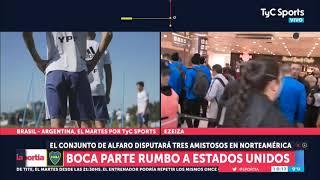 Boca partió rumbo a Estados Unidos
