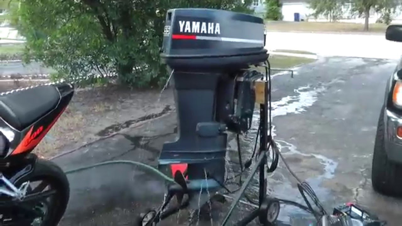 Force Outboard Motor Wiring Diagram Yamaha 55hp 2 Stroke Outboard Motor Youtube
