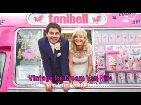 vintage tonibell ice cream van hire for your wedding