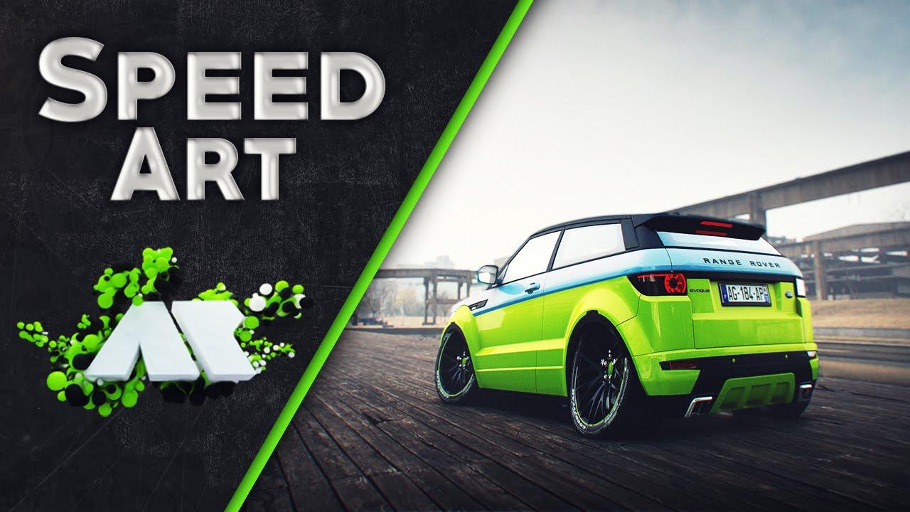 Speed Art Range Rover Evoque Cartoon Edition Aleks Youtube