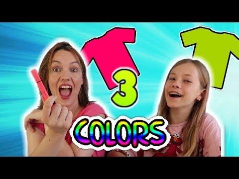 3 COLORS TIE DYE SHIRTS CHALLENGE!! Camisetas divertidas de 3 Colores